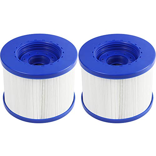 FENGCHENG Spa Filter Pool Filter Ersatz-Kartusche passend für Aquaparx, Ospazia, G Spa, Bcool, Nordic Spa, viele Massagepool Modelle (2 Stück)