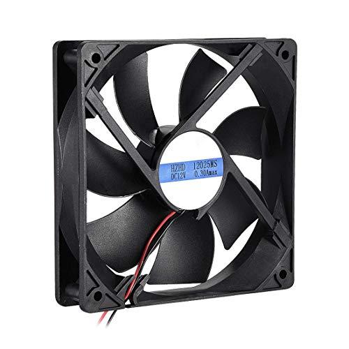 N/A 12025MS - Ventilador de refrigeración (120 x 120 x 25 mm, CC 12 V, 0,3 A, Larga Vida útil, 120 x 25 mm)