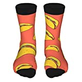 QUEMIN Let'S Taco Personalized Ankle Socks Athletic Stockings Casual Socks 15.7 Inch For Men Women