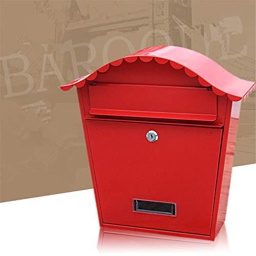 Liuxiaomiao brievenbus regendichte buitenwand Suggestion Box Pastoral Creativity brievenbus met sluiting voor meervoudige bezorging van brieven