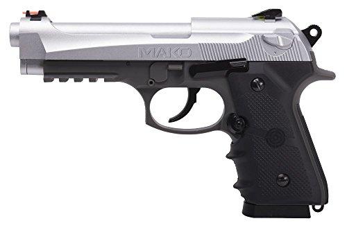 Crosman CM9B MAKO - Pistola de cápsulas de Aire comprimido (CO2) Munición Bolas bb's de Acero Rail Picatinny para Accesorios. Corredera metálica. Potencia < 3.5 Julios