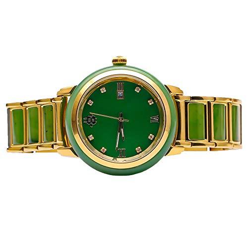 Natuurlijke Groene Hetian Jasper Horloge 925 Zilver Inlay Hanger Gesneden Hangers Vrouwen of Heren Amulet Nephrite Jades Sieraden Stuur Lederen Band