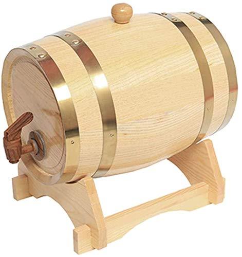 Barril de Madera, Barril de vino de roble, 3L / 5L / 10L / 15L, dispensador de barril de vino de madera especial, vino rojo envejecido o almacenado, whisky, cerveza, cóctel, vinagre, etc. (con grifo)