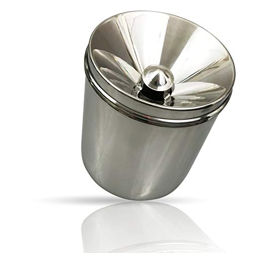 Kerafactum Elegante recipiente de acero inoxidable para degustación de vino de 1 litro, protección contra salpicaduras, degustación, depósito de degustación, protección visual en ferias especializadas de vinos