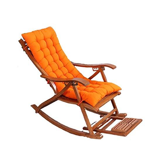 ZSGZ Mecedora de Espesor cojín Mullido sillón reclinable Cojín sólida Simple de Alta Amortiguador Trasero al Aire Libre Sillón Cojín (Size : 120x48x8cm)