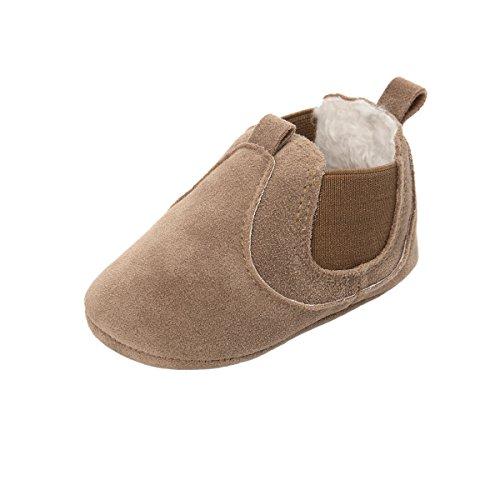 ESTAMICO Baby Jungen Mädchen Freizeit Winter Sneakers Warm Schuhe Braun 6-12 Monate