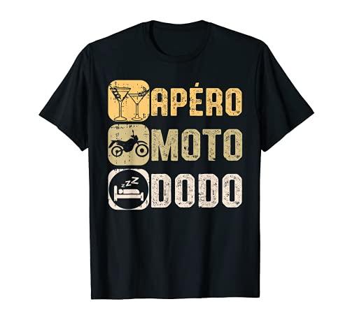 Apéro Moto Dodo Humour Bière Motard Homme Femme Cadeau T-Shirt
