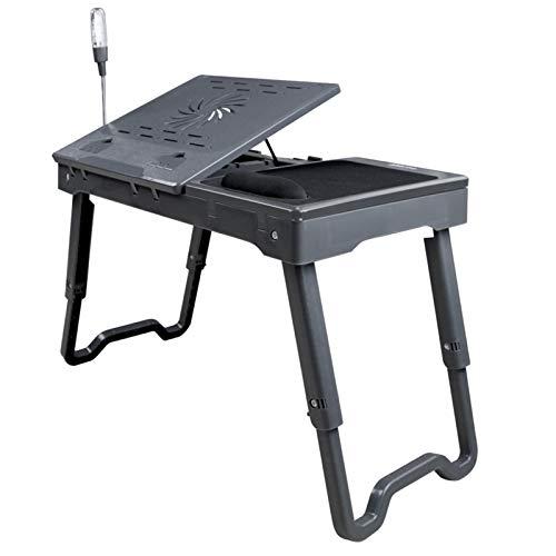HERVI Multifunktionaler Stehender Faltbarer Computertisch, Lüfterkühlung + Augenschutzlampe, Geeignet Für Wohnzimmer Und Schlafzimmer
