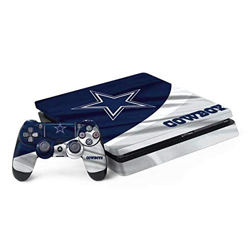 Skinit Decal Gaming Skin Compatible with PS4 Slim Bundle - Officially Licensed NFL Dallas Cowboys Design