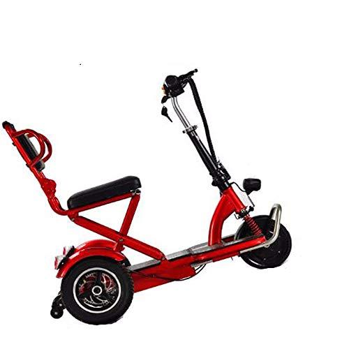 YWS Elektro-Dreirad Mobility Scooter Für Erwachsene Faltbar, Behinderte Elders Tragbares Elektro-Rollstuhl DREI Räder Elektro-Trikes Last