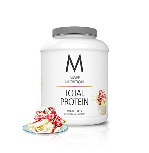 MORE NUTRITION Total Protein (1 x 600 g) - Whey Eiweißpulver mit Casein und Laktase für Muskelaufbau (Spaghetti Eis)