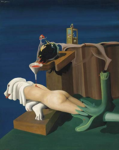 Berkin Arts Oscar Dominguez Giclee Imprimir en Lienzo-Pinturas Famosas Arte Fino Póster-Reproducción Decoración de Pared(Máquina de Coser Electro Sexual) #XFB