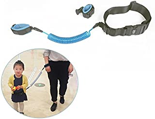 Blue,1.5M STARmoon Adjustable Kids Safety Anti-lost Link Band Belt Walking Assistant Baby Walker Wristband