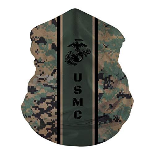 Camouflage U.S.M.C Green Face Mask Bandana Balaclava Neck Gaiter Dust Wind Proof UV Protection