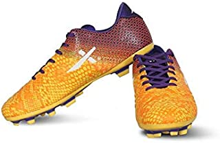 Vector X Ignite Football Shoes for Men's (Yellow-Purple)