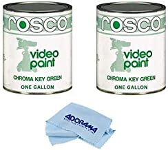 Rosco 2 Pack Chroma Key Matte Green Paint Gallon - with Microfiber Cleaning Cloth,