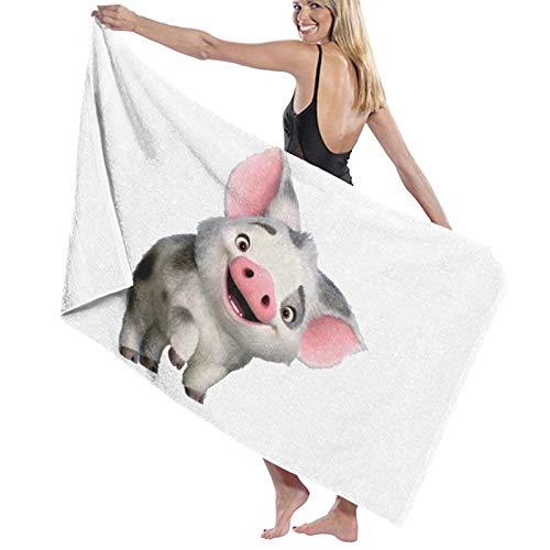 ghjkuyt412 Bath Towel,80X130Cm Richard Moana Pua The Pot Bellied Pig Logo Bath Towels Super Absorbent Beach Bathroom Towels For Gym Beach SWM SPA
