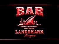 Landshark Bar LED看板 ネオンサイン ライト 電飾 広告用標識 W40cm x H30cm レッド