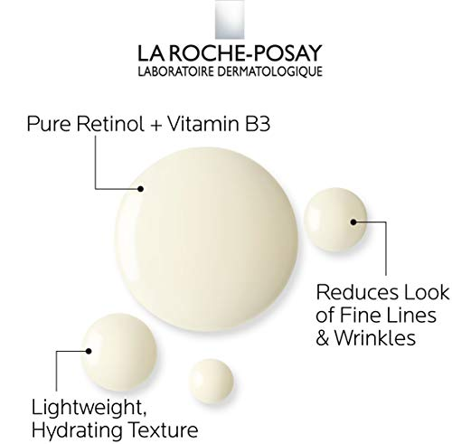 41uM KdksLL - La Roche-Posay Pure Retinol Face Serum with Vitamin B3. Anti Aging Face Serum for Lines, Wrinkles & Premature Sun Damage to Resurface & Hydrate. Suitable for Sensitive Skin, 1.0 Fl. Oz