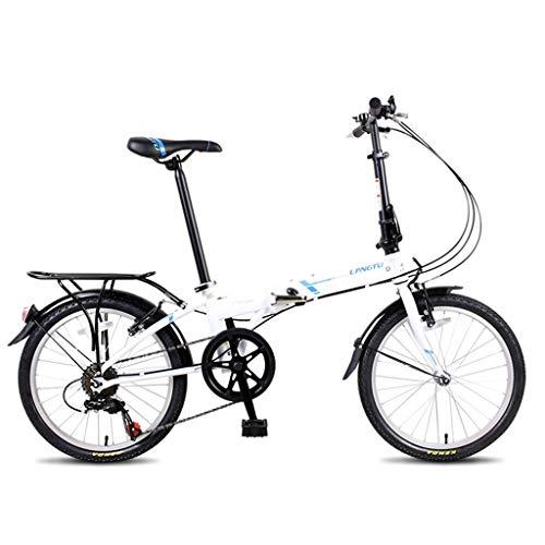 Vouwfiets 50,8 cm (20 inch) mannen en vrouwen Ultra Light Beweegbare fiets volwassenen scooter student shift-fiets comfortabele fiets