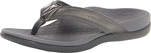 Vionic Women's, Tide II Thong Sandal Pewter 7 M