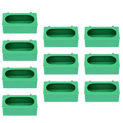 Camisin 10 Piezas Bandeja de Taza de AlimentacióN de Loro de PáJaro Comedero de PláStico Colgante de PláStico Cuenco de Agua de Loro Paloma (Grande)