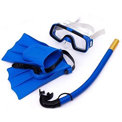 MxZas Los niños Gafas de natación Tipo seco Snorkel Buceo Tubo de respiración Natación Deportes acuáticos Gafas de Buceo Eyewear for boygirl 4, Duradero (Color: Naranja) Jzx-n (Color : Blue)
