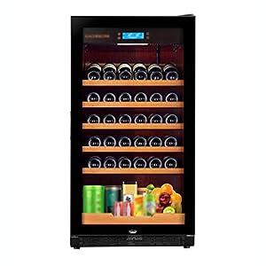 hanzeni Réfrigérateur À Vin - La Capacité Est De 220 L Réfrigérateur À Vin À Compresseur sans Givre Autonome pour Vins Blancs Et Rouges avec Contrôle De Température À Mémoire Numérique
