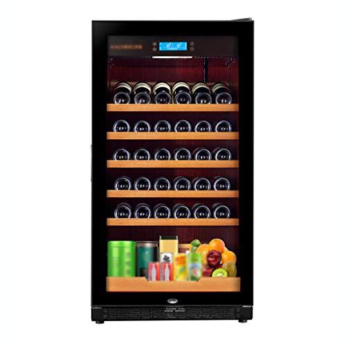 hanzeni Weinkühler Kühlschrank - Die Kapazität Beträgt 220 L Freistehender Frost Free Compressor Weinkühlschrank Für Weiß- Und Rotweine Mit Digitaler Speichertemperaturregelung
