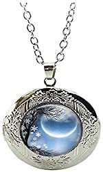 Image: Winter Solstice Locket Necklace New Moon Locket Necklace Solstice Jewelry