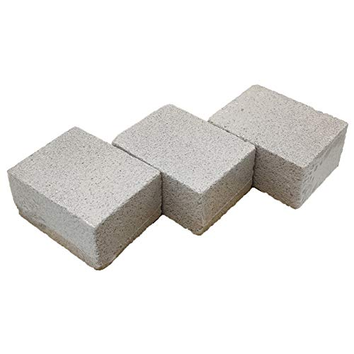 DISHUECO 3pcs Set Parrilla Limpieza Piedras pómez Parrilla Cepillo Alternativa Raspadores Piedra Asador Utensilios