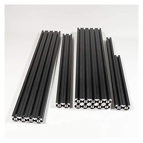 High Precision for HFSB5-2020 Black Extrusion Frame Kit for VORON 2.4 3D Printer Blind Joints 250/300/350mm Stable Performance (Size : 250mm)