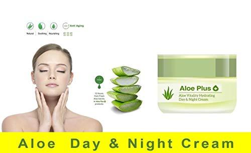 Aloe Vera, 24h Vitality Tages- & Nachtcreme von 3 Jahre Organische Aloe Pflanze mit Sheabutter und...