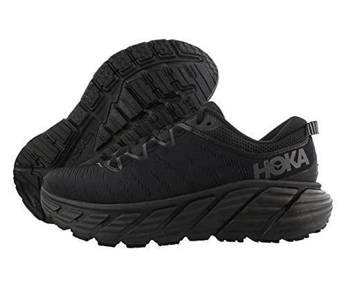 HOKA ONE ONE Gaviota 3 Womens Shoes Size 8.5, Color: Black/Black