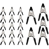 Amazon Basics 20-Piece Steel Spring Clamp Set