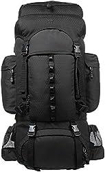 AmazonBasics Internal Frame (Hardback) Hiking Backpack with Raincover, 55Liters (Black),AmazonBasics,ZH1704013