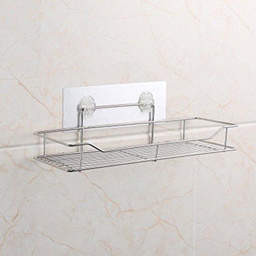 ZHDC® Étagère, toilette mur-accroché forage cuisine cuisine salle de bains en acier inoxydable mur de stockage en métal rack 25 * 22 * 11 cm Forte capacité portante (taille : 35*20*12cm)