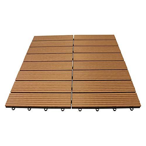 Top-Multi WPC Holz Fliese 30x30cm, 1m² (11 Fliesen) BRAUN