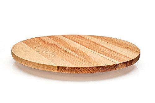 Rotary Junta. Lazy Susan–Bandeja giratoria de madera. Madera de haya maciza. Utilizar para servir queso, para aperitivos, aperitivos., madera, Diameter 40 cm