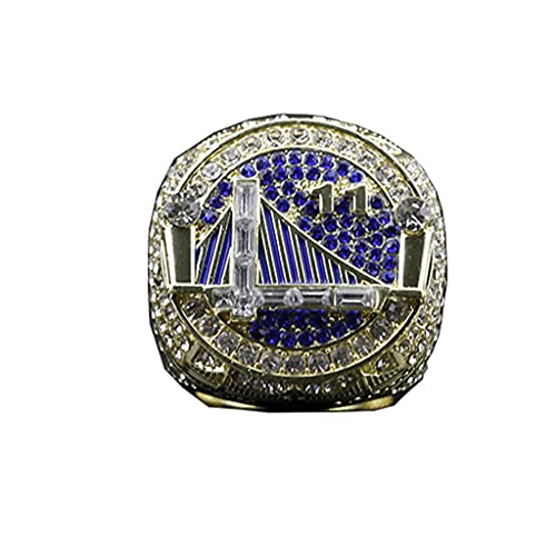 TYTY 2018 Golden State Warriors Basketball Thompson Championship Ring Champion Ring Replica Creative Ring para Mujeres y Hombres,with Box,11