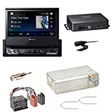 Pioneer NAVGATE71BT Bluetooth Navi CD DVD USB Navigation Touchscreen Autoradio Einbauset für BMW E30 E34 E32