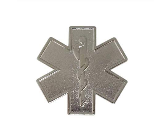 Parche Nación Paramédica Estrella de la Vida Plata, Broche de Metal Cosplay