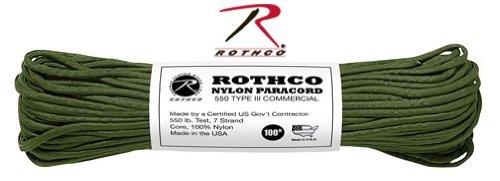 Rothco Military 100ft Nylon Paracord Rope Olive Green