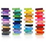 You&Lemon Juego de 60 rollos de cinta adhesiva Washi, 8 mm, arcoíris, cinta decorativa, pegatinas para manualidades, planificador, scrapbooking, embalaje de regalo