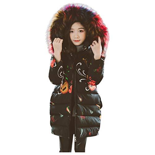 Realde--Baby Mädchen Lang Jacke mit Kapuze Elegant Drucken Kleinkinder Warm Kleidung Mäntel Herbst Winter Sweatshirt Strickjacke Pullover...