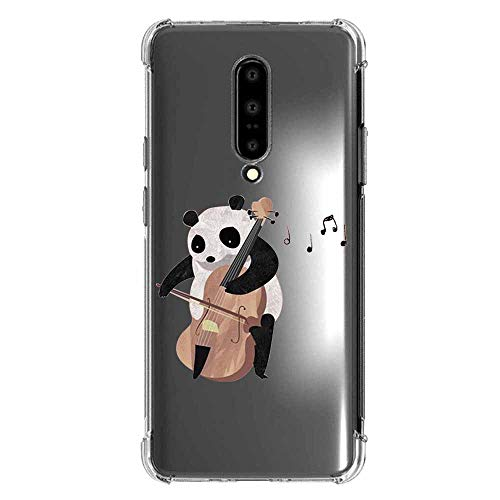 Compatible with oneplus 7 pro Case TPU - Clear Animal Panda Design Slim Soft Shockproof Clear Screen Protective Pattern Girl Women Cute TPU Bumper Protector Funny Case for oneplus 7 pro-25