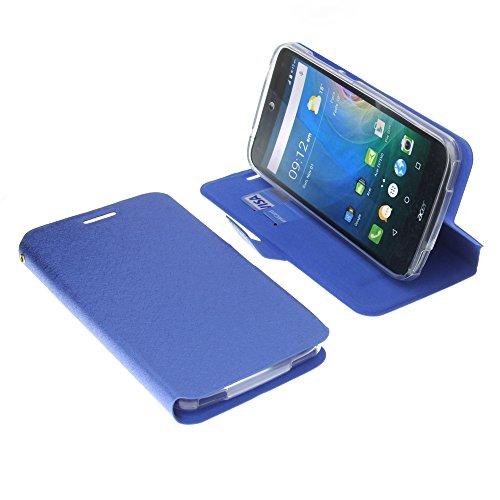 foto-kontor Tasche für Acer Liquid Z630 Liquid Z630S Liquid M630 Book Style blau Schutz Hülle Buch