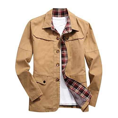 MAYOGO Winterjacke Herren Jeansjacke Trucker Jacke Baseball Jacke Freizeit Herbst Winter Dünne Jacke Tactical Jacket Harrington Jacke Strickjacke