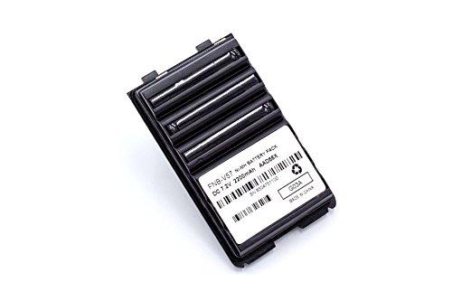 vhbw Batería Recargable Compatible con Yaesu/Vertex FT-60, FT-60E, FT60R, FT-60R, VX110, VX-110, VX120 Radio (2200 mAh, 7,4 V, NiMH)