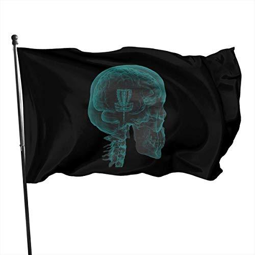 Viplili Disc Golf On The Mind Garten Flagge Banner Flagge für innen/außen 3 x 5